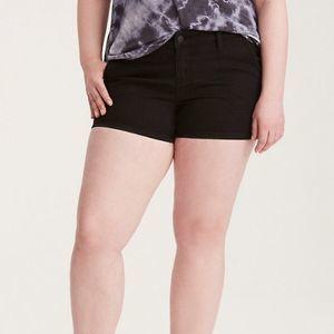 Torrid black denim stretchy high rise shorts